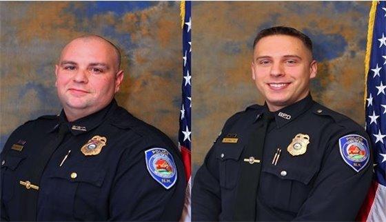 School Resource Officer Mike Carpenter and Master Patrol Officer Matt Pratte