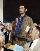 Man speaking - Rockwell painting