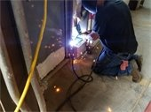Welding being done at DPW