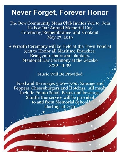 Men's Club Memorial Day Celebration