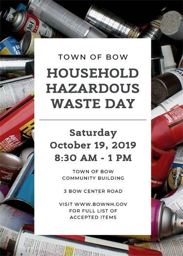 Town of Bow Household Hazardous Waste Day