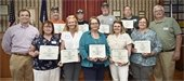 Employees who were recognized for their years of service to the Town of Bow
