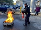 Chief Lougee fire extinguisher training