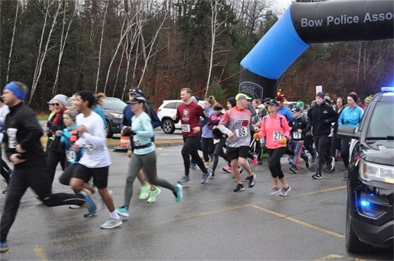 Runners at the starting line for the 11th Annual Turkey Trot Run