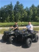 Chief Lougee and Chief Harrington on the two new ATV's they will share