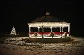 Christmas Lights at the Gazebo