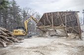 Salt Containment Demolished by DPW