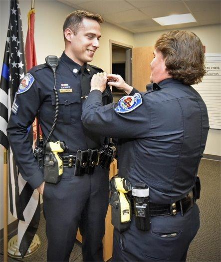 Pinning Sgt. Matt Pratte