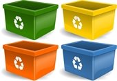 Recycling bins Photo