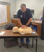 Myrt Fellows training on CPR