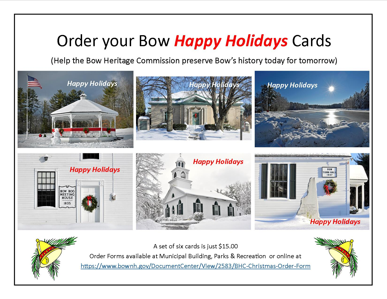 2018 - Holiday Card Ad for Town Web-Site 10-15-2018