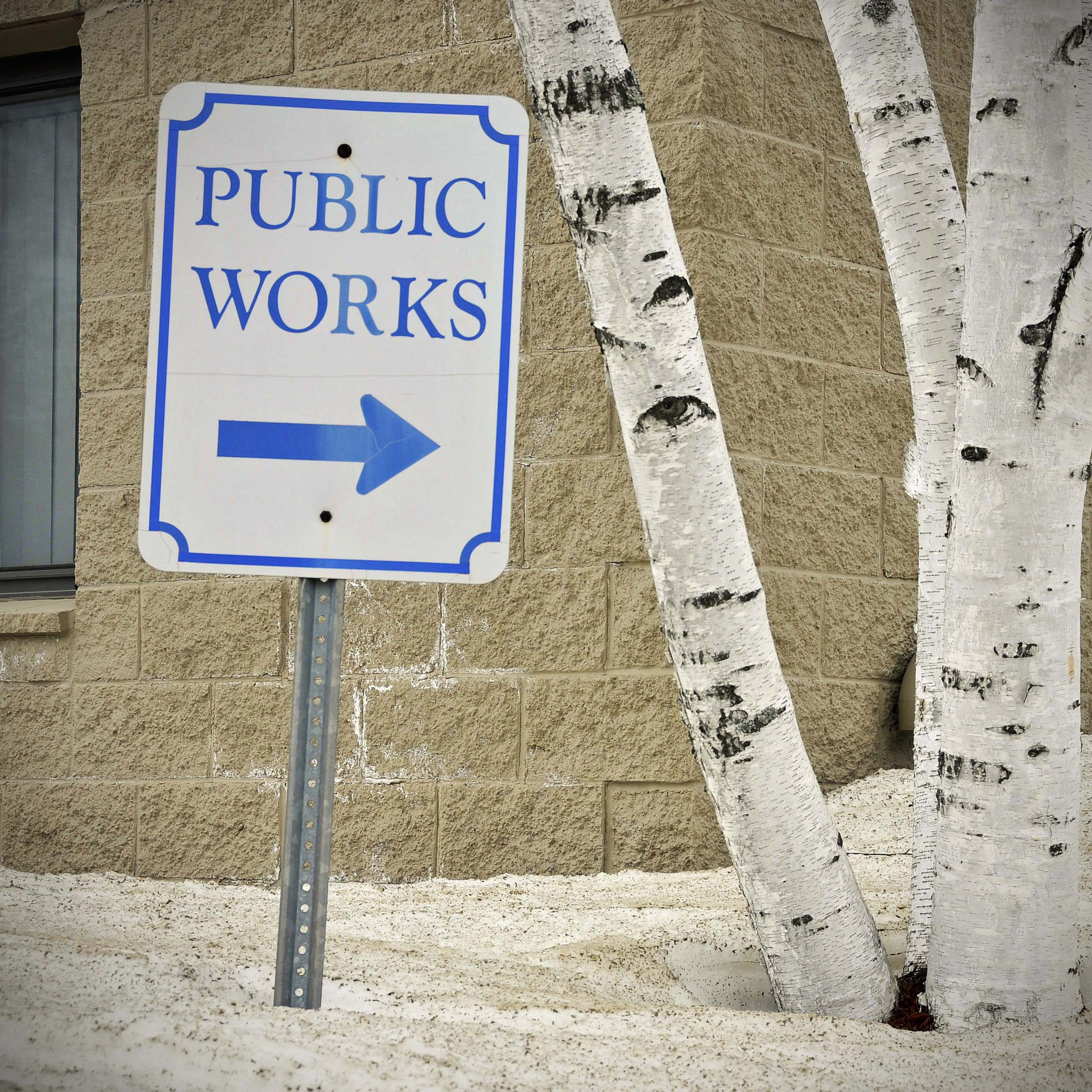 Public Works sign e anderson